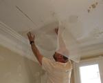 Artisan peintre traitement fissures plafond